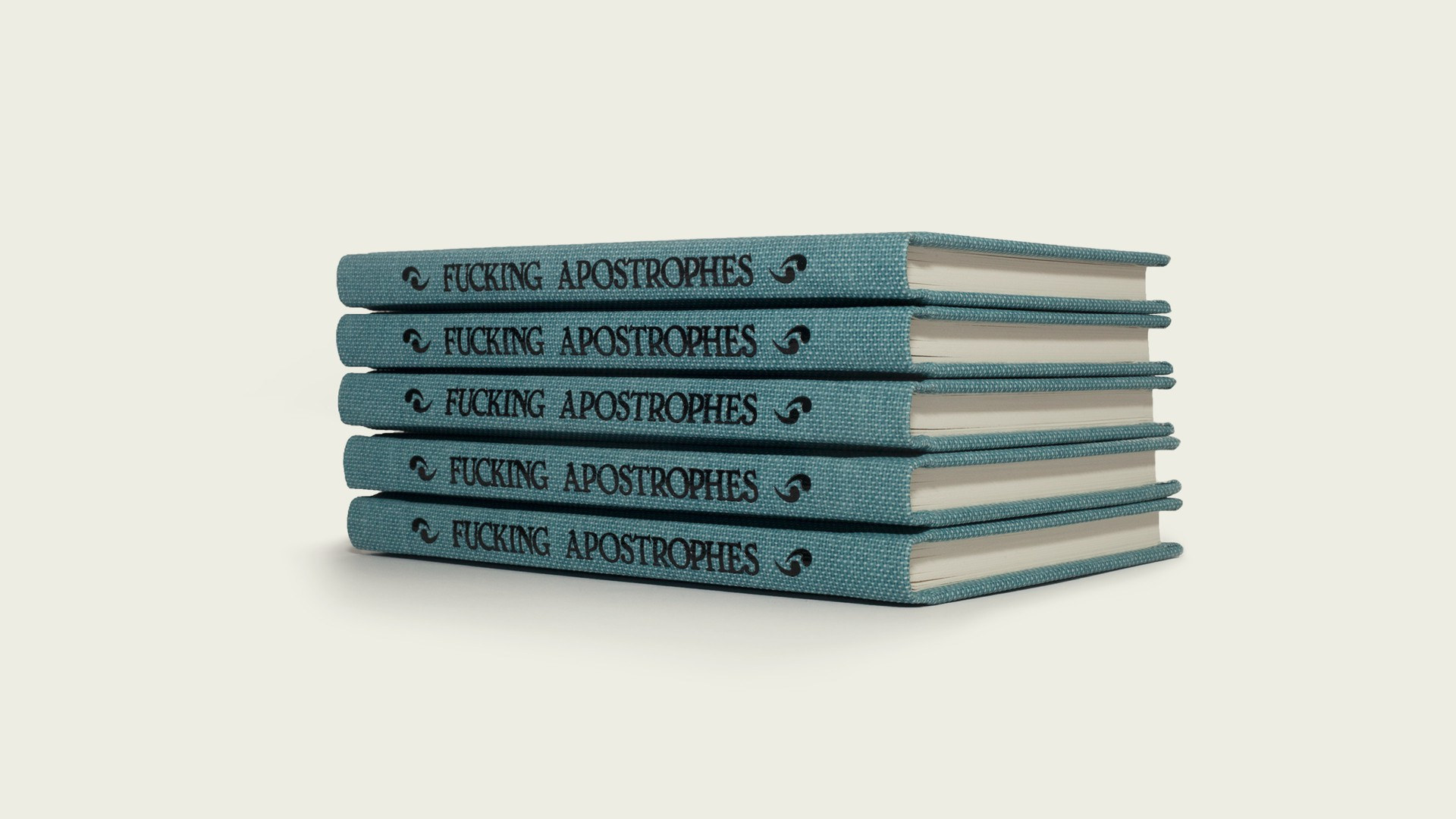 Fucking Apostrophes spines stacked}
